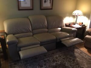 Leather Double Recliner Couch