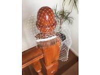 Ivory pearl birdcage veil - vintage