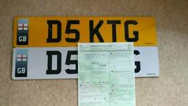 Katy G - Personalised number plate - D5 KTG personal number plate - Perfect for a Katy G