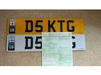 Personalised number plate - D5 KTG personal number plate - Perfect for a Katy G