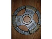 4x 5kg metal Olympic weight plates .20kg