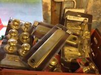 Range of brass fittings