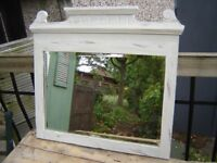 Edwardian shabby chic beval edged mirror