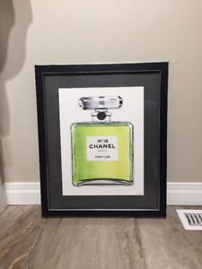 Framed Chanel Perfume Drawing