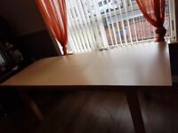Extend solid dinning table