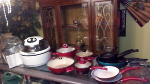 HUGE LOT OF PANS, POTS, AIR FRYER, AND ACCESSORIES!