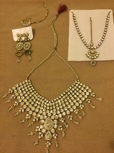 Kundan bridal necklace set - stunning