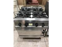 Zanussi stainless steel commercial gas cooker