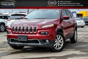 2016 Jeep Cherokee Limited|4x4|Pano sunroof|Backup Cam|Bluetooth