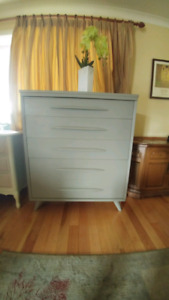 Solid wood dresser finished in chalk paint and and sealed