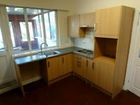 Kitchen furniture's set oak effect - sink, tab, worktop and electric cooker included