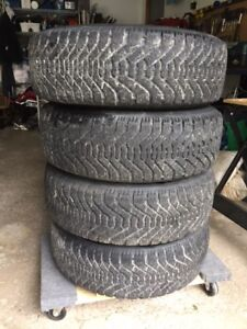 Winter Tires Goodyear Nordic on steel rims