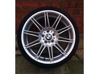 "Bmw Mv4 19"" Original Genuine Alloy wheel RUN FLAT TYRE CAN POST"