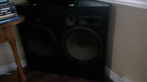 2 home theater speakers