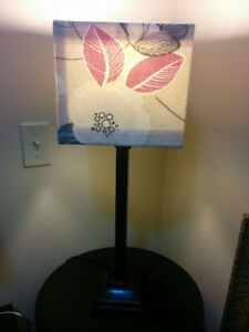 Tall Lamp with Leaves Shade