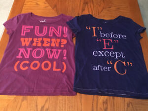Two PEEK Size 12 Youth Girls Tees