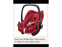 Maxi-Cosi Pebble Plus i-size Group 0+ Baby Car Seat (Robin red)