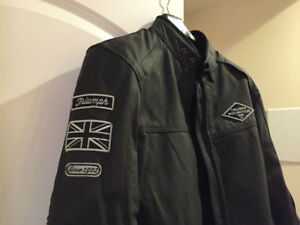 Triumph Custom leather jacket en excellente condition Medium
