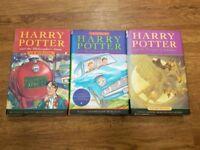 First 3 Harry potter books (Hardback)