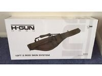 Nash H-Gun 12ft 5 Rod Skin System / Holdall For 12ft Ready Made Up Carp Rods Brand New In A Box