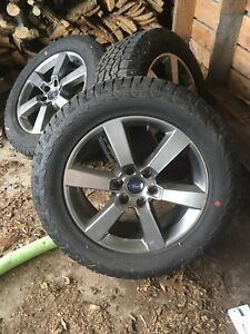 "20"" Ford factory rims with tires"