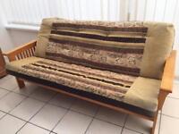 Pine frame sofa bed
