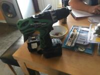 Hitachi ds14dvf3 combi drill with battery