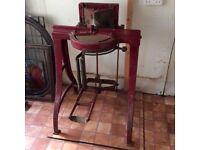 Old Moros mitre cutting machine