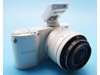 Samsung NX1100 DSLR camera with flash and 20mm-50mm Lens. 8gb SD Class 10 Card. Excellent condition.