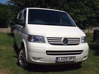 VW T5 Transporter converted into comfortable double camper. Excellent Condition throughout.
