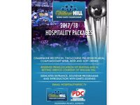 2 HOSPITALITY TICKETS PDC DARTS WORLD CHAMPIONSHIP 7PM 27/12