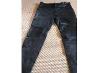 Leather motorcycle trousers size 42