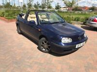 VW GOLF 1.6 CONVERTIBLE AUTOMATIC 1 LADY KEEPER LOW MILEAGE