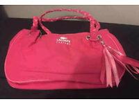 Lacoste pink shopping/travel/handbag