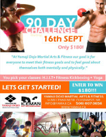 90 day fitness challenge -Win $180!!