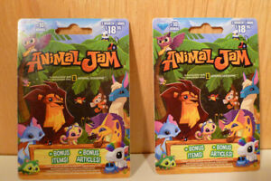 2 x Animal Jam electronic online gaming cards for kids. NatGeo