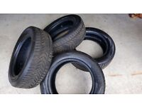 Winter tyres x 4 for sale. Excellent condition 225/55R17.