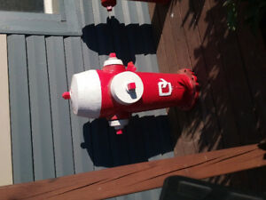 Fire hydrant red and white