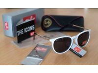 FREE DELIVERY TODAY! PAYPAL ACCEPTED RAYBAN LADIES WHITE GLOSS SUNGLASSES tent swimming phone