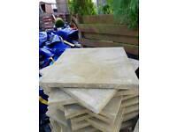 60cmx60cm buff riven slabs