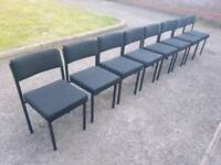 8 office chairs reception waiting area - can deliver