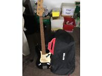 Bass guitar, case and optional amp