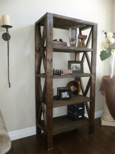 Handmade rustic farmhouse bookcase