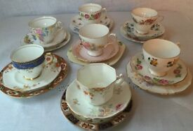 Vintage Tableware Hire: China, Glass, Silverware and Linens