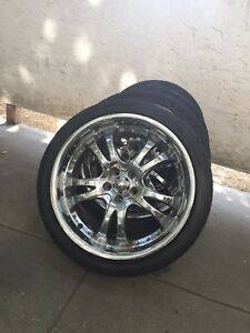 "18"" 5x100 American Racing Aftermarket Chrome Wheels!"