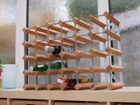 Traditional Wine Rack - takes 30 bottles - Light Oak - can be used either way up