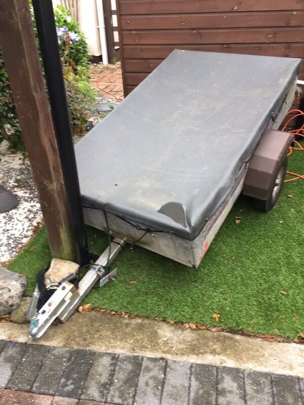 Trailer 5ft x 3ftin Hythe, KentGumtree - Galvanised trailer 5ft x 3ft x 1ft new tow hitch all lights fully working.cover & 2 spare wheels although both are bald,tyres on trailer are both good, trailer has been well used but still has plenty of life left in it.Pick up only from Hythe Kent