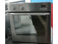 O197 stainless steel indesit single electric oven comes with warranty can be delivered or collected