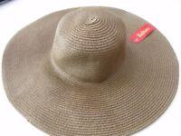 Kultura Large Ladies Wide Brimmed summer folding Floppy Hat