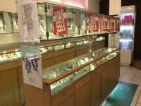 Retail display units cabinets suitable for small giftware / jewellery